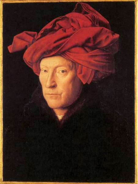 Jan van Eyck - Autoportrai supposé.